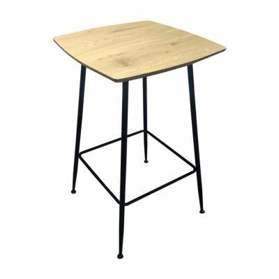 Négyzet alakú asztalka fekete lábakkal, 60x60 cm - ALMADA